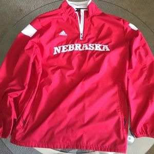 Adidas Nebraska Quarter Zip Jacket Men's XL